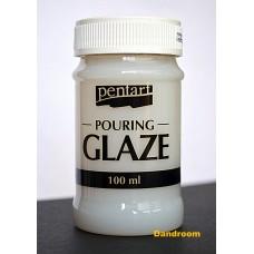 """Финишный лак """"Pouring glaze"""", Прозрачный, 100 мл, Pentart"""