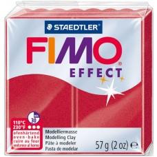 Пластика Effect, Рубиново-красная металлик, 57 г, Fimo