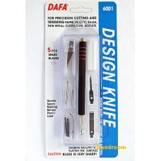 Набор для моделирования 6001: нож макетный, 5 сменных лезвий + 7 насадок, DAFA