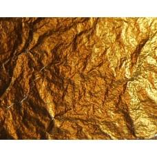 Поталь свободная, ЗОЛОТО, №2,5 (имитация) в листах, 16х16 см, в картонном буклете, 20 листов