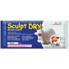 Масса для моделирования, белая, самозастывающая, 250 г., ''Sculpt Dry'', MUNGYO