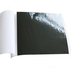 Поталь цветная в листах (фольга для декорирования), Черная, 8*8,5 см, 50 листов