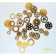 Набор металлических шестеренок, Золото, 50г.