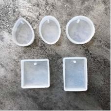 Силиконовые молды для кулонов, комплект из 5 форм