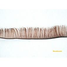 Реснички для кукол, игрушек, Коричневые, 10 мм, длина ленты 20 см