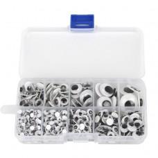 Глазки для игрушек круглые подвижные, d 5-10 мм, набор 700 шт.