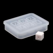 Молд силиконовый для бусин на 6 форм, Куб, 12 мм