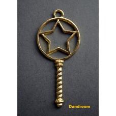 Форма (рамка, подвеска) для эпоксидной смолы, Звезда в круге, ключик