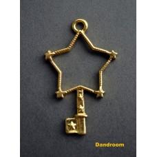 Форма (рамка, подвеска) для эпоксидной смолы, Звезда, ключик