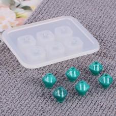 Молд силиконовый для бусин на 6 форм, Ромбовидные, 9 мм