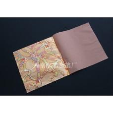 Поталь с цветными разводами (оксидированная) в листах, 14 на 14 см, 25 листов
